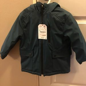 NWT Zara boys 'heavy' rain coat Size 4